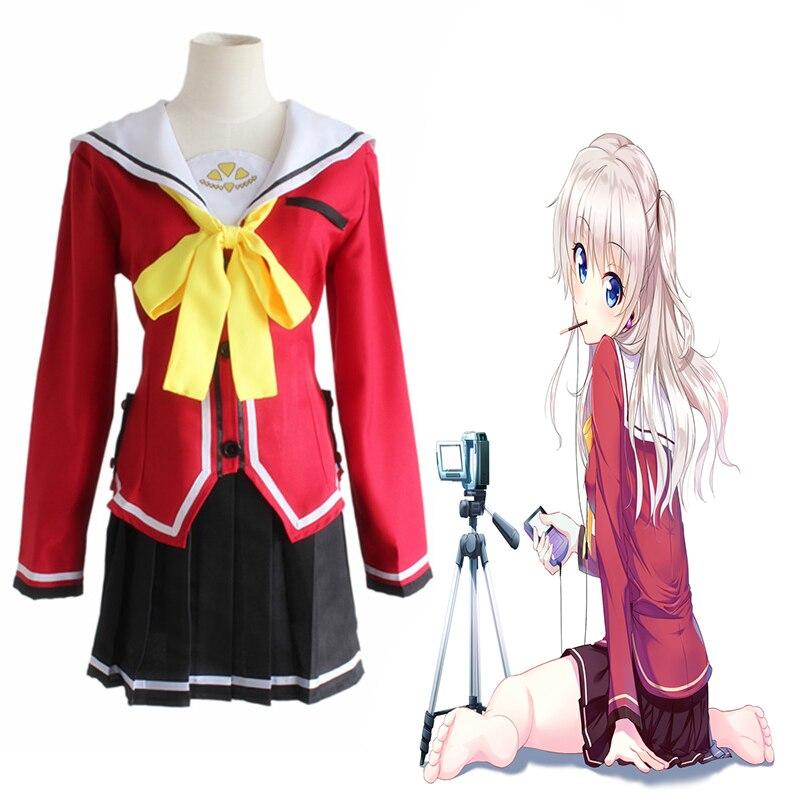 Anime charlotte cosplay trajes tomori nao shcool uniforme yuu otosaka cosplay trajes festa de halloween unisex cosplay