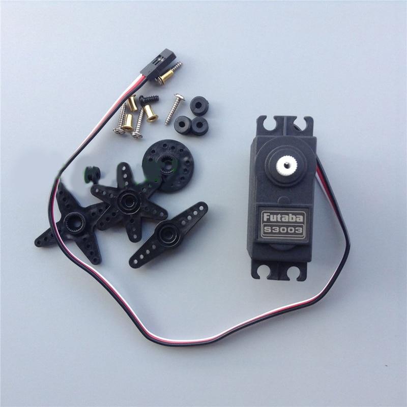 Futaba 38g S3003 Servo estándar con engranajes de plástico 3KG Torque 90 grados engranaje de dirección para Robot RC/coche/barco modelo repuestos