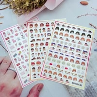 cartoon little girl nail art stickers self adhesive transfer decals 3d slider diy tips nail art decorations manicure package