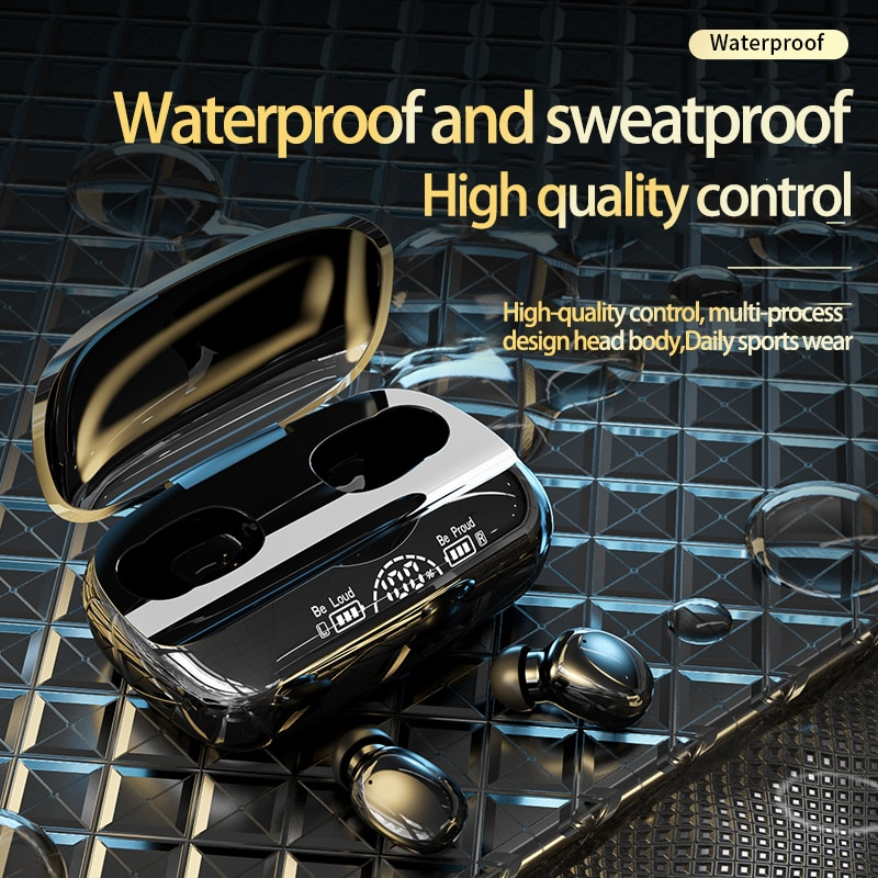 2021 factory new T9 earplug type outdoor portable wireless Bluetooth 5.2 voice lowering waterproof stereoTWS game sports headset enlarge