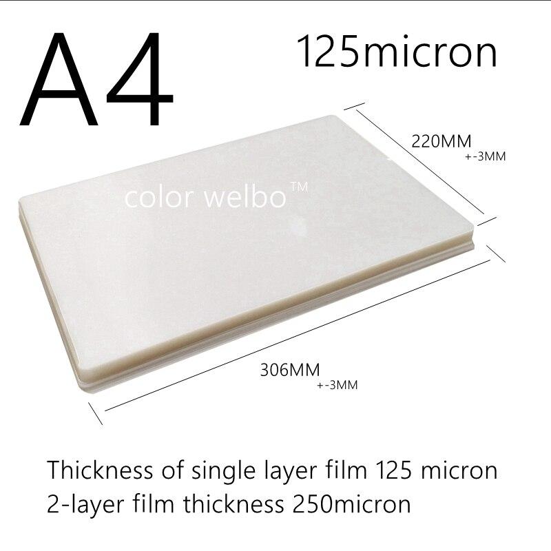 125 микрон x дюймов ПЭТ ПЭ ПВХ горячий ветер ламинатор A4 + Размер ПЭ пластиковая машина для запечатывания ламинирования пленка