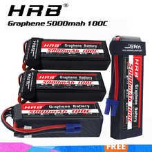 HRB 3s 4s 6s 5000 мАч графеновая батарея 14,8 в 22,2 в литий-полимерная батарея для 1/10 1/12 радиоуправляемых автомобилей, монстр, самолетов, DJJ, дронов, вер...