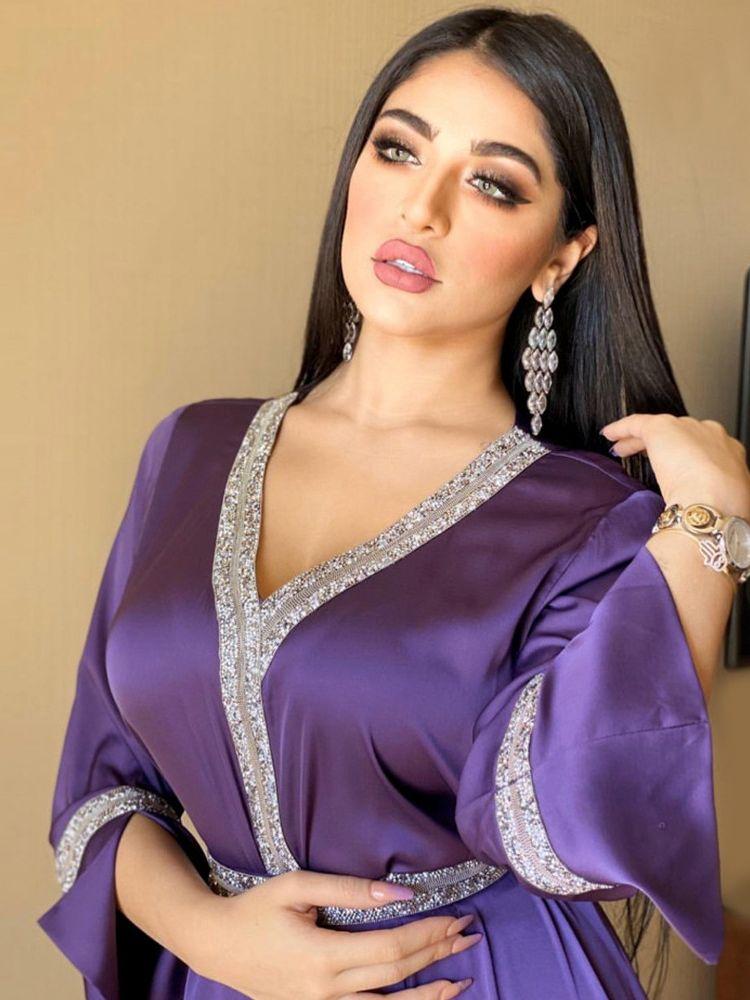 Jalabiya-Vestido largo de satén musulmán para mujer, Abaya étnico islámico, Turco árabe,...