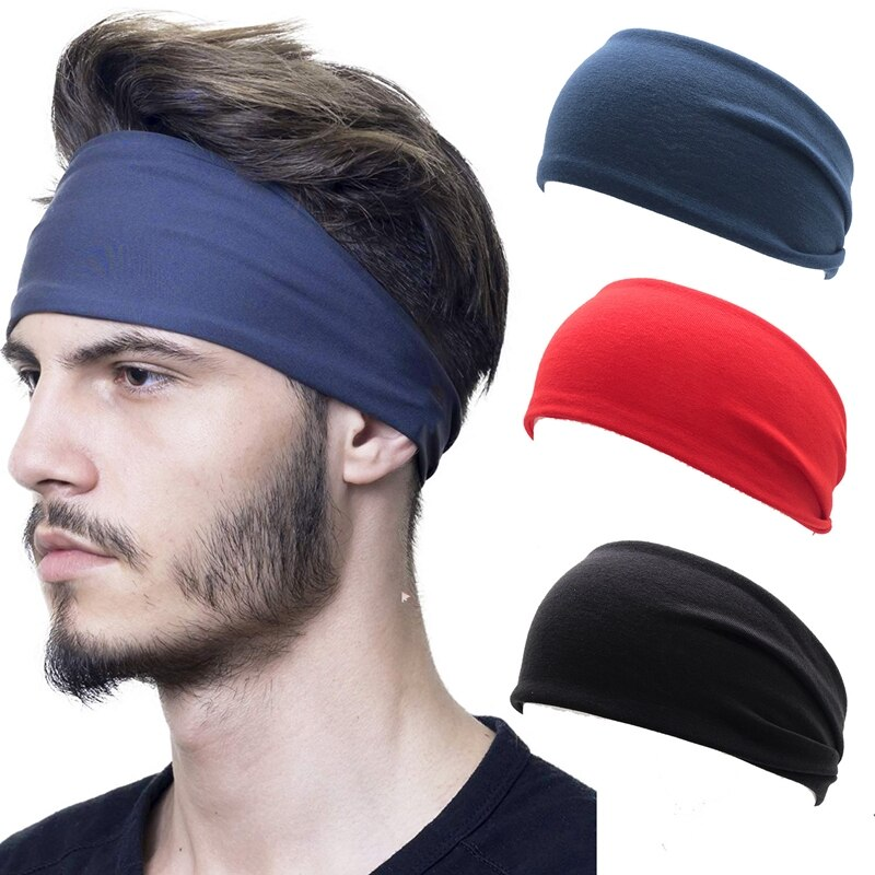 Unisex Absorb Sweat Elastic Hair Band Sport Yoga Run Solid Hairband Wide Stretch Headband Sweat Non Slip Multi Headbands elastic lacework wide sport headband