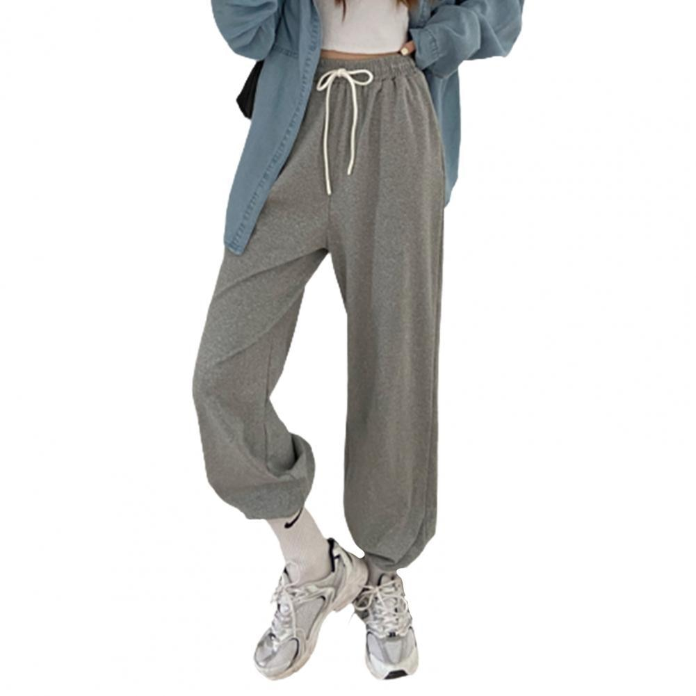 80% Hot Sales!!! Fashion Women Solid Color Drawstring Ankle Tied Long Harem Pants Sports Trousers