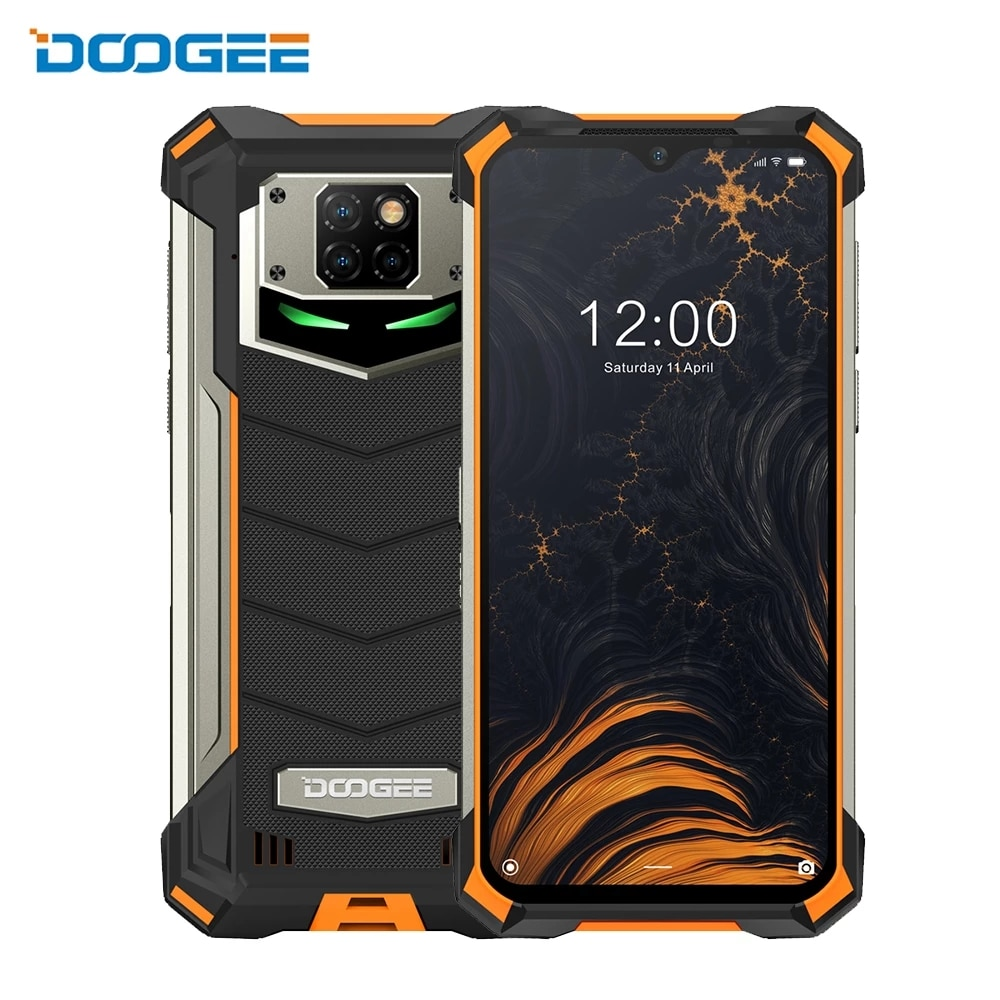 DOOGEE S88 Pro IP68/IP69K водонепроницаемый прочный мобильный телефон 10000 мАч Helio P70 Octa Core 6 ГБ Оперативная память 128 Гб Встроенная память Смартфон Android 10 ...