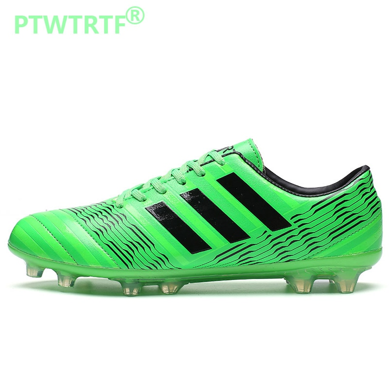 35-44 Size Men Long Spikes Soccer Shoes Kids Cleats Training Football Boots Boys Sports Shoes Breath