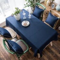 solid waterproof tablecloth coffee table cover rectangular stain resistant tablecloth christmas decorations for home table