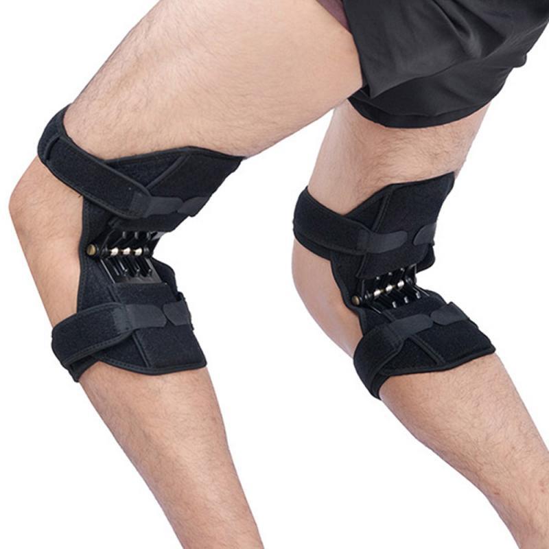 Apoyo de articulación rodillera cómoda antideslizante Levantamiento de energía rodilla almohadilla estabilizadora fuerza estabilizadora potente refuerzo de fuerza de rebote