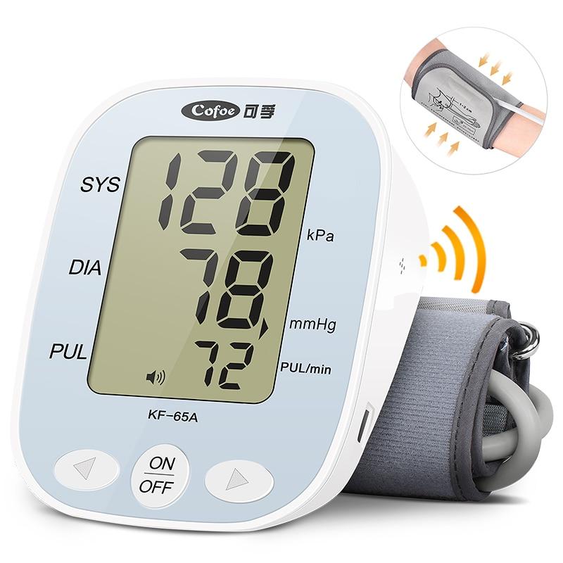 Cofoe monitor de presión arterial equipo médico medidor de presión arterial y cuidado de la salud Homeuse Digital Lcd monitor de paciente de brazo superior