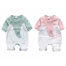 Autumn Baby Boy Girl Casual Cartoon Print Romper Infant Long Sleeve Children Jumpsuit Outfits New