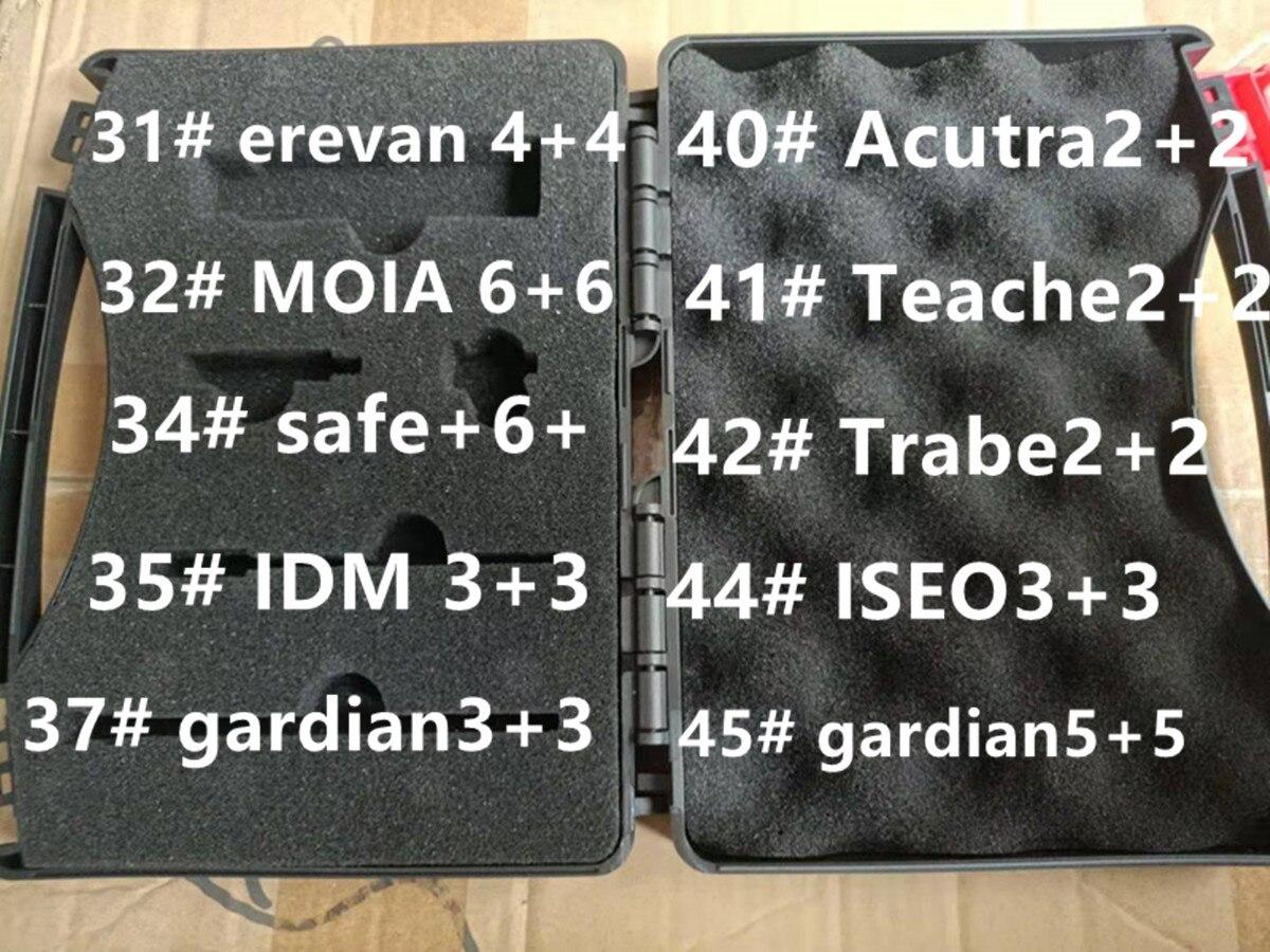 أدوات مفاتيح سحرية إريفان مويا آمنة + 6 IDM غارديان أكوترا تعلم إسيو قفل فتاحة دولو بت أقفال فك الأقفال أداة صندوق