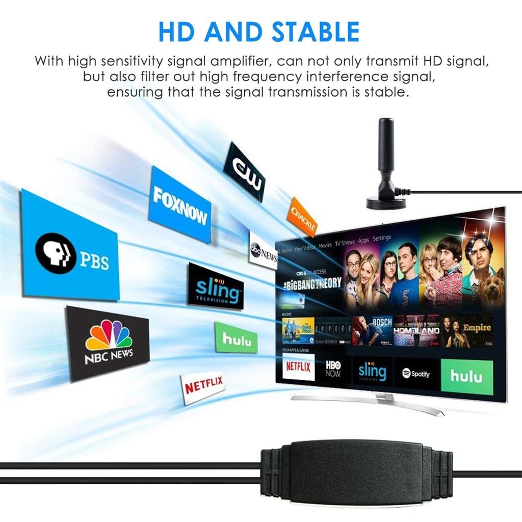 300 Mile Range Antenna TV Digital HD Skywire 4K Antena Digital Indoor HDTV 1080p Digital Amplifier High Gain Satellite Receiver