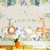 kid wall sticker rhinoceros tiger bedroom living room removable stickers creative stickers