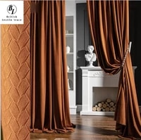 2021 new high end nordic light luxury texture shading velvet curtains for living room bedroom home decor blackout curtains