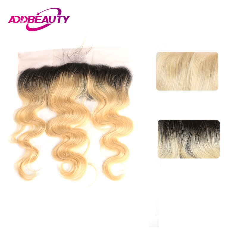 Body Wave 13x4 Swiss Lace Frontal Closure Brazilian Virgin Human Hair 4x4 Lace Closure Ombre 1B/613 Blonde Pre Plucked Free Part