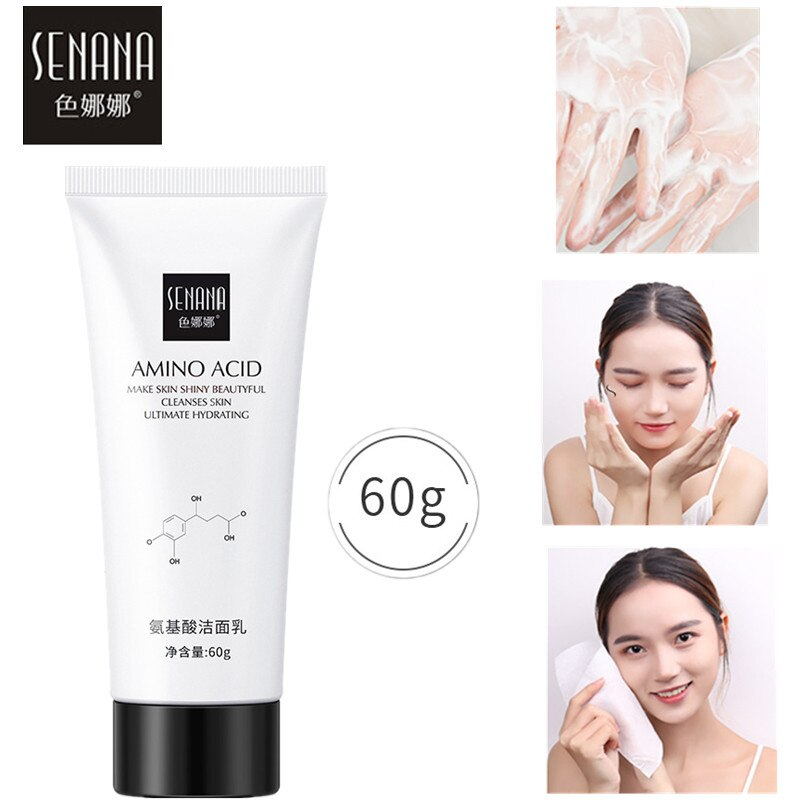 SENANA Nicotinamide Amino Acid Face Cleanser Facial Scrub Cleansing Acne Oil Control Blackhead Remover Shrink Pores Skin Care недорого