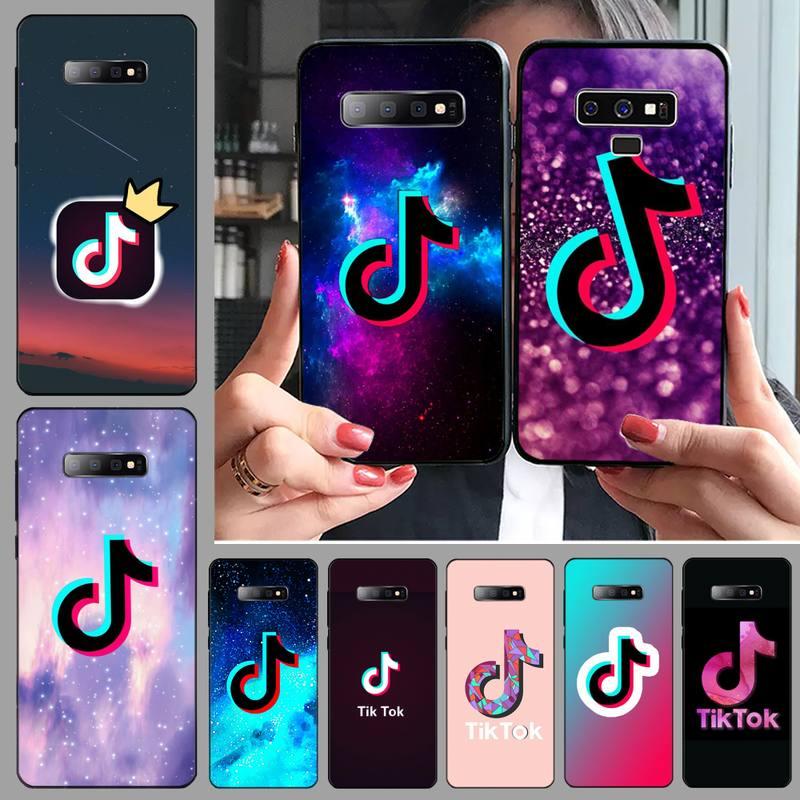 Tiktok musical curto vídeo logotipo caso de telefone para samsung s6 s7 borda s8 s9 s10 e plus a10 a50 a70 note8 j7 2017