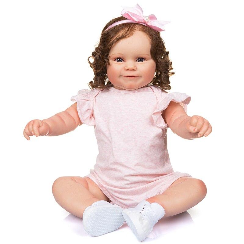 بيبي تولد من جديد دمية 20 بوصة نابض بالحياة الوليد لطيف تولد من جديد طفل دمية الفينيل لعبة هدية للأطفال