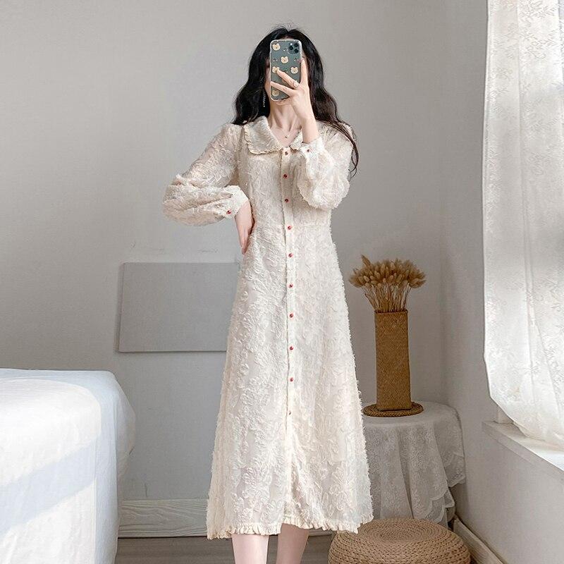HAMALIEL, primavera 2020, vestido largo para mujer, de alta calidad, de una sola hilera de botones rojos, cuello Peter Pan, borla, Vintage, vestido Midi