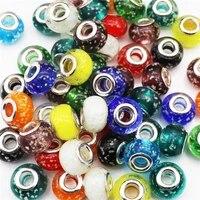 10pcslot 16mm big round large hole luminous beads fit pandora bracelet women chain cord diy pendant necklace for jewelry making