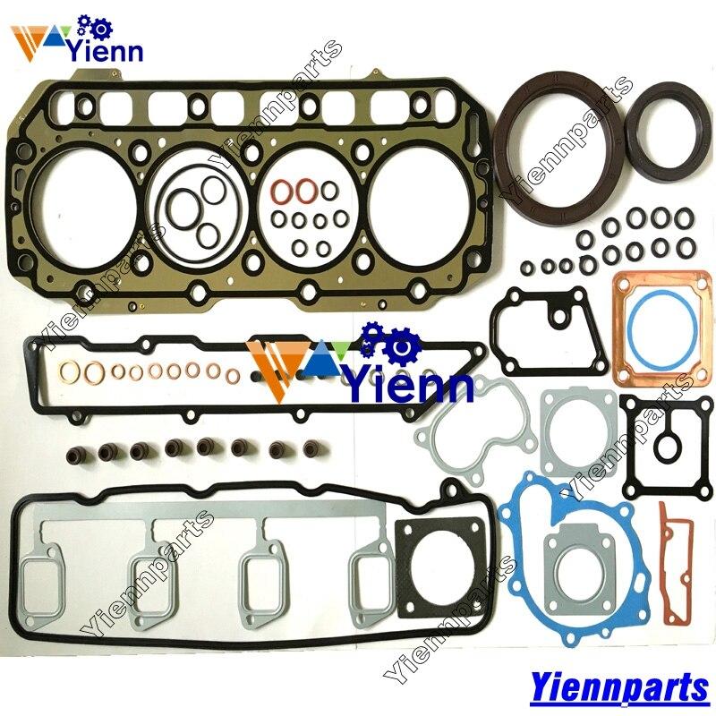 Para Yanmar 4TNE106 S4D106 Kit de junta completa 723900-92660 723900-92600 W/Junta de cabeza para Yanmar 4TNE106T S4D106 piezas de motor