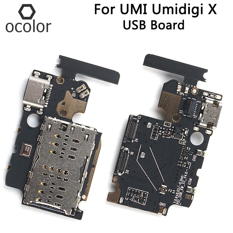 Ocolor para UMI X, piezas de reparación de ensamblaje de placa de carga USB para Umidigi X, conector USB, accesorios para teléfonos móviles
