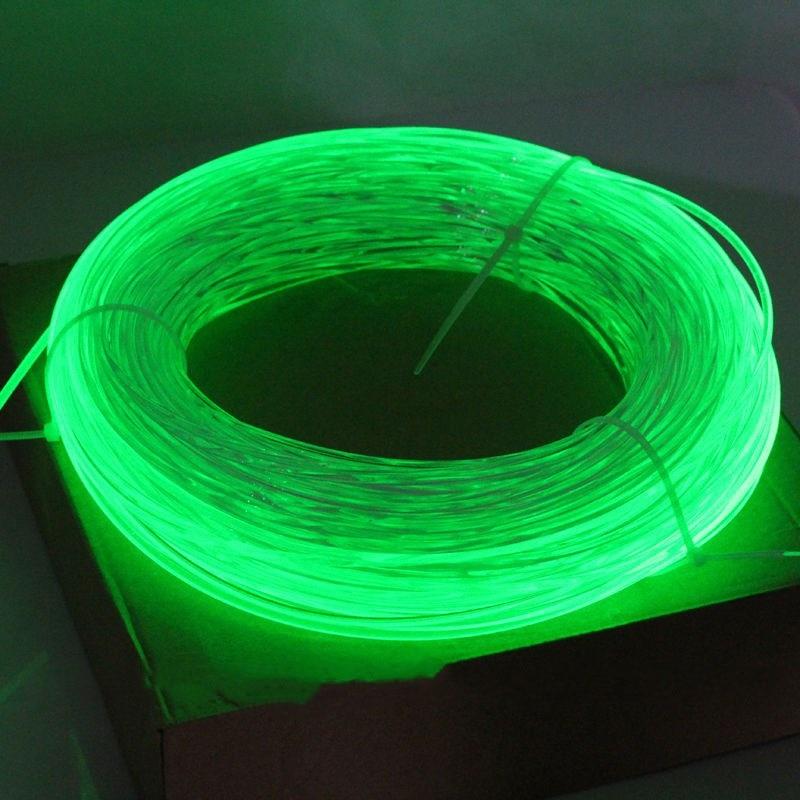 Cable de fibra óptica de brillo lateral de 50M PMMA 5mm (diámetro) Coche hogar DIY iluminación LED colgante lámpara cortina estrella techo coche decoración del hogar-RGB