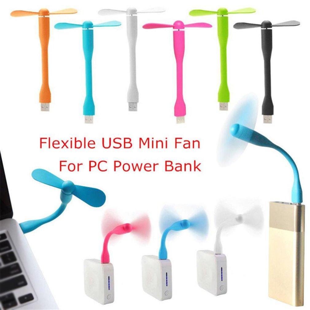 Flexible Mini USB Fan Portable Detachable Cooling Fan for PC USB Devices Mini Handheld USB Fan