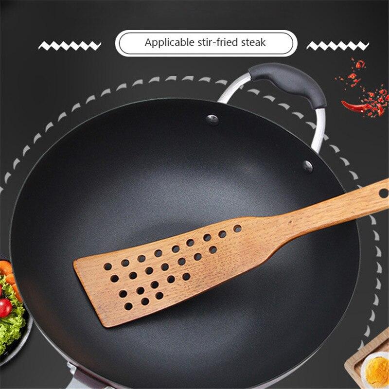 Espátula de madeira pá de madeira para pan antiaderente colher de arroz cozinha ferramenta de cozinha espátula de madeira panelas acessórios de cozinha gadgets