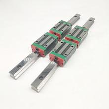 Rail de guidage linéaire HGR20   20mm Type 2 pièces rail L1200mm + 4 pièces bloc de chariot HGH20CA pour routeur