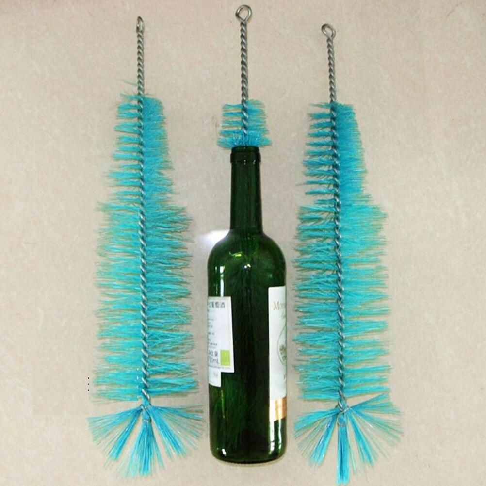 1PCS 44cm Nylon Bottle Cleaning Brush Wine Beer Home Brew Tube Spout Cleaner Kitchen Cleaning Tools aluminum tube nylon bevel blush brush