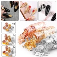 golf foil flakes metallic foil flakes for resin goldsilverrose gold leave flakes for nail art painting diy crafts nail tools