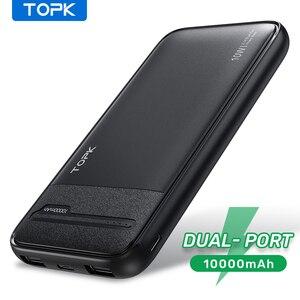 TOPK внешний аккумулятор 10000 мАч портативное зарядное устройство 10000 мАч Внешний аккумулятор зарядное устройство повербанк для iPhone 12 Xiaomi mi 10 9 8