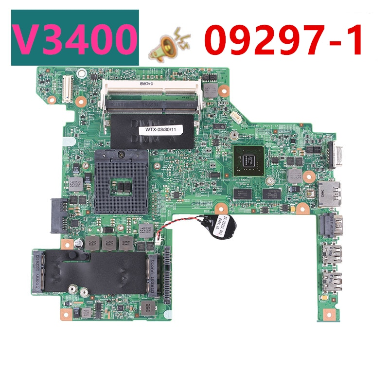 Novo notebook placa-mãe para dell vostro v3400 para 09297-1 08yn7x hm57