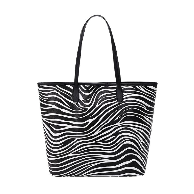 Shoulder Bag Womens Bags 2021 New Printed Tote Fashion for Women Versatile Large Capacity PU Handbags