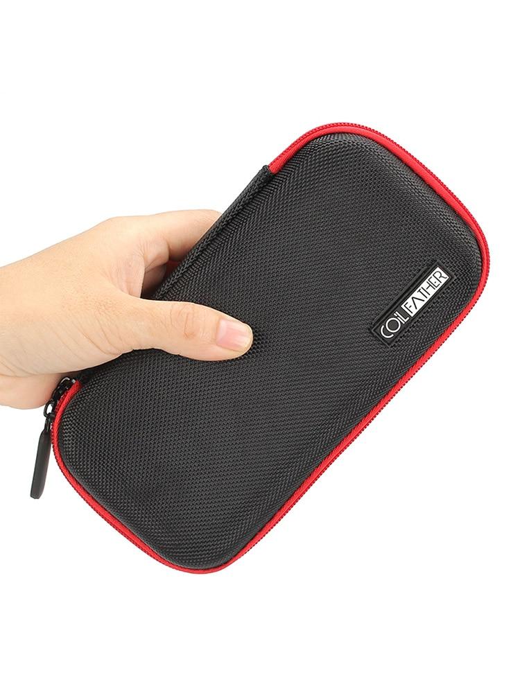 Electronic Cigarette Multifunctional DIY Portable Bag Tool Storage Bag - X6S Black For Men And Women 1PC 19x10x3cm