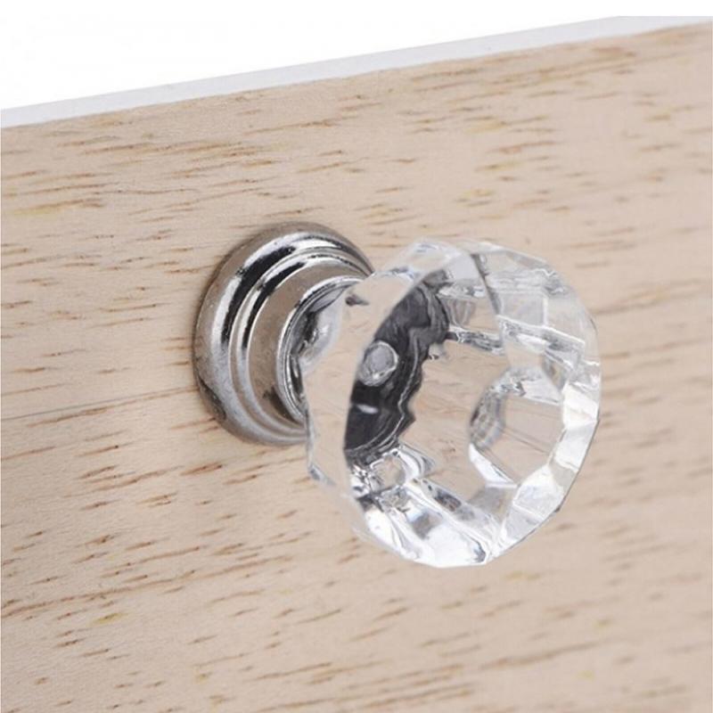 8 шт дверных ящиков шкаф выдвижные ручки Прямая поставка по всему миру портативная Мебельная ручка 30 мм алмазное стекло сплав Набор магазин...