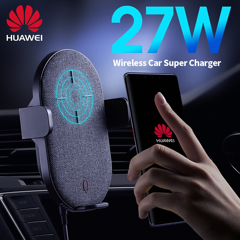 Huawei SuperCharger Wireless Charger Car Phone Holder 27W Qi TÜV Super Fast Charging For P30 Mate 3