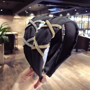 Crystal Knot Headbands For Women Korea Colorful Hair Accessories Hair Bows Flower Crown Fahion Hairbands Head Wrap Hair Band