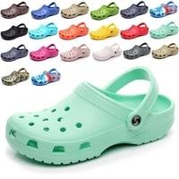 beach sandals womens flat garden jelly sandals 2020 summer new wooden sole sandals mens sandals beach sandals