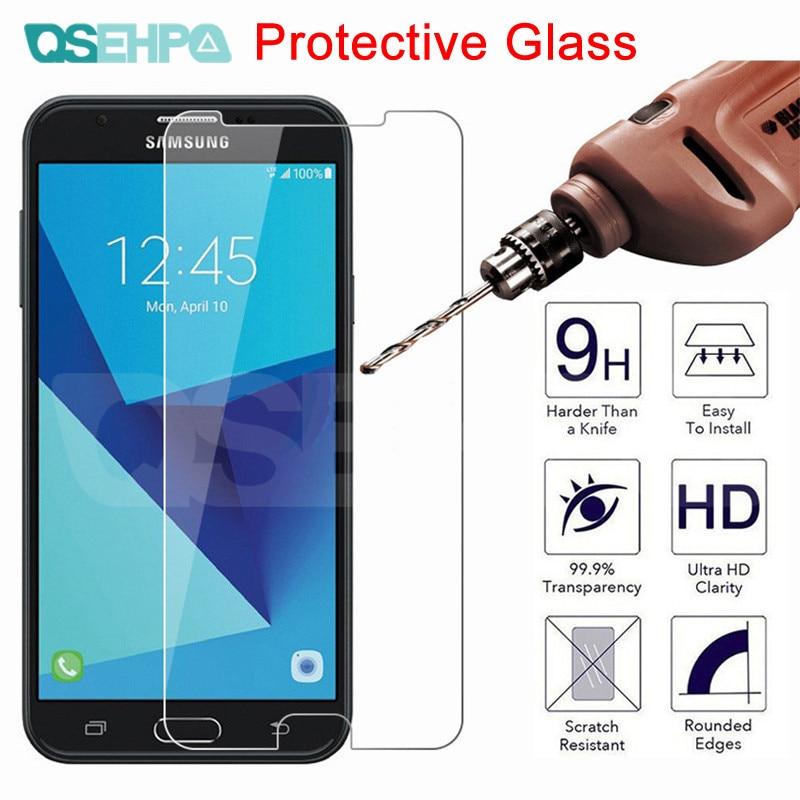 9H vidrio templado para Samsung Galaxy J3 J5 J7 A3 A5 A7 2015, 2016 de 2017 A6 A8 A9 2019 Protector de pantalla Protector película de vidrio