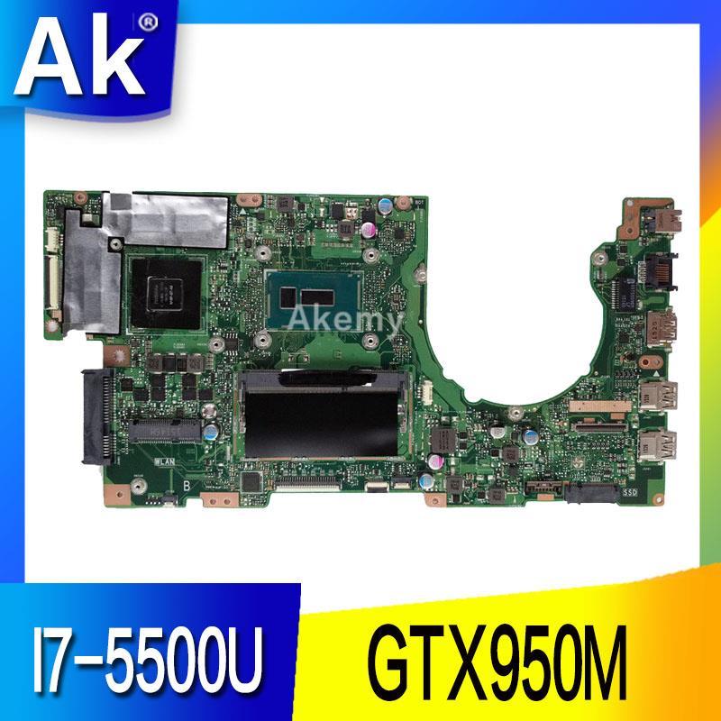AK K501LX placa base de Computadora Portátil para ASUS A501L V505L K501LX K501LB K501L K501 prueba placa base original 4G RAM I7-5500U GTX950M