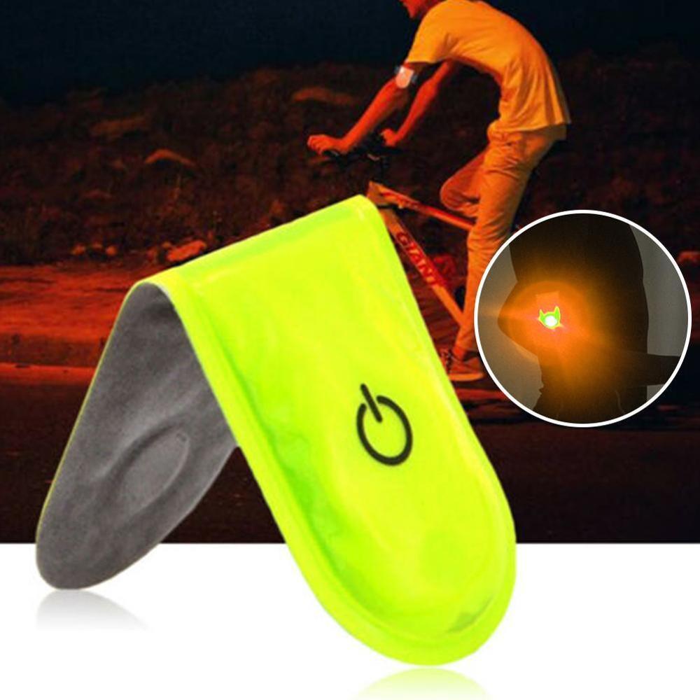 Luz LED de seguridad para deportes al aire libre, reflectante, Clip magnético, luz estroboscópica para correr, caminar, bicicleta, ciclismo, Reflector de advertencia