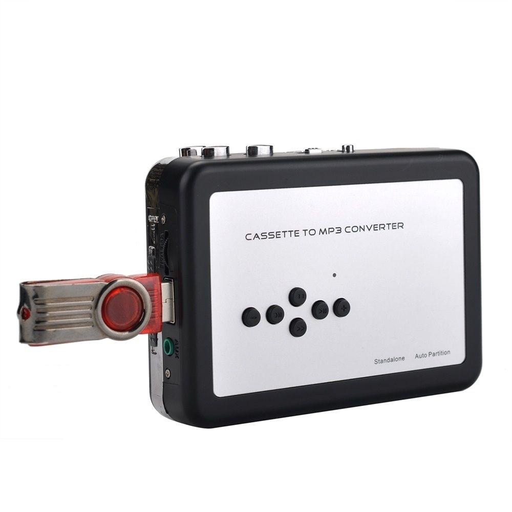 Ezcap231-محول شريط كاسيت إلى MP3 ، USB ، التقاط كاسيت ، مشغل ووكمان ، تحويل الأشرطة إلى محرك فلاش USB ، لا حاجة إلى كمبيوتر شخصي