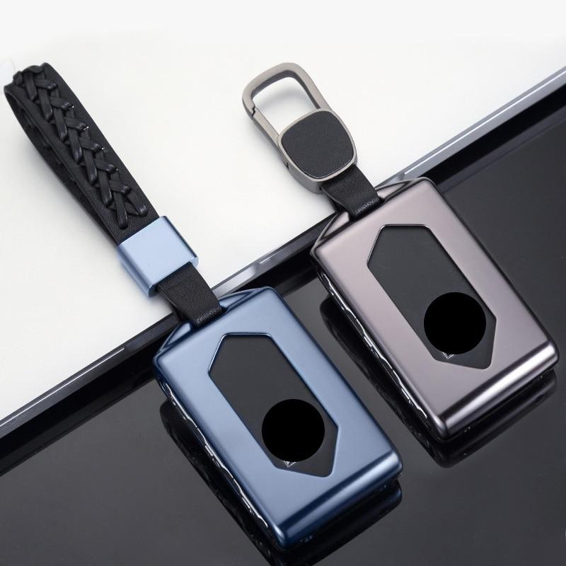 Алюминиевый сплав ключ крышка в виде ракушки чехол держатель для ключей чехол для Volvo xc40 xc60 xc90 s90 v90 XC60 XC90 XC40 S90 V90 2018