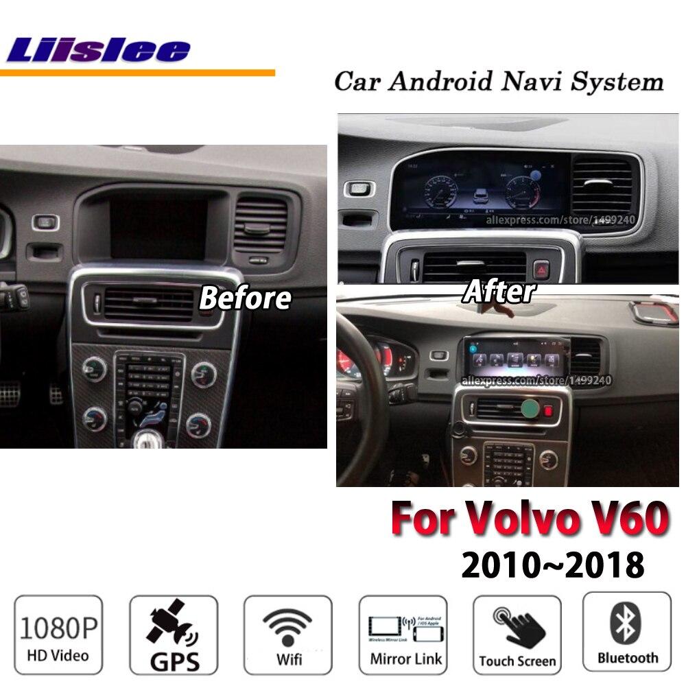 Radio Estéreo Liislee para coche con Android 7,0, 2 + 32G, GPS, navegación y sistema Multimedia, para Volvo V60 2010 ~ 2018