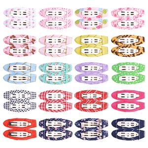 40pcs/lot Children Snap Metal Hair Clips Colorful  Barrettes Girls Cute BB Hairpins Headwear For Kids Hairgrips Hair Accessories