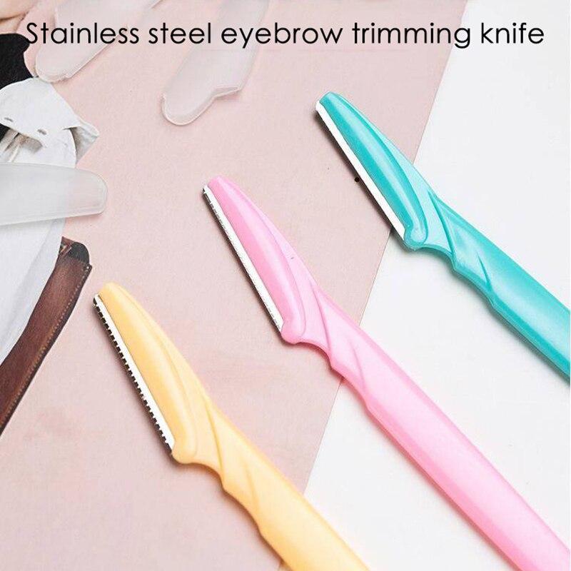 Sobrancelha aparamento portátil dobrável faca olho lábio sobrancelha trimmer lâmina de barbear barbeador ferramentas de remoção do cabelo