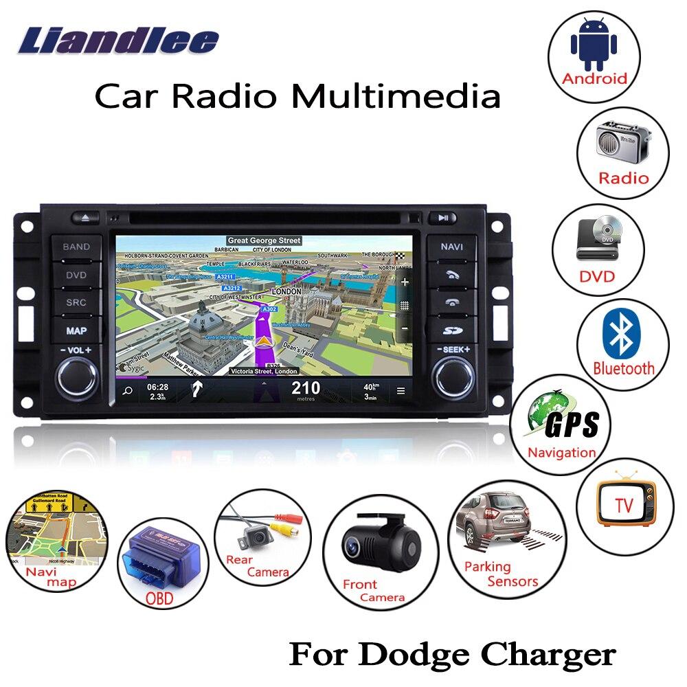 Liandlee para Dodge cargador 2008 ~ 2010 Android 8,1 coche Radio CD DVD Player GPS Navi mapas de navegación Cámara OBD pantalla Multimedia